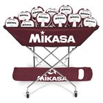 Mikasa collapsible hammock ball cart, maroon