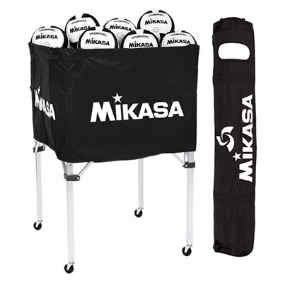 Collapsible ball cart, cap.24 balls, black