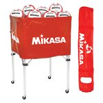 Collapsible ball cart, cap.24 balls, red