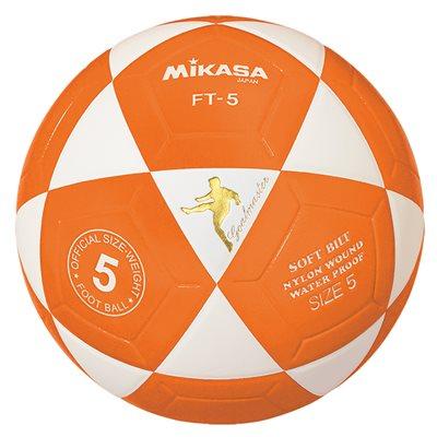 Ballon officiel de footvolley, #5, blanc / orange