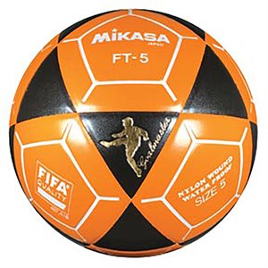 Ballon officiel de footvolley, #5, noir / orange