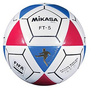 Ballon officiel de footvolley, #5, bleu / rouge