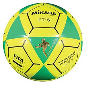 Ballon officiel de footvolley, #5, vert / jaune