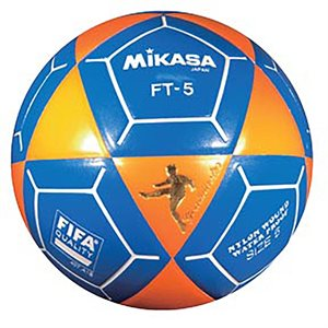 Ballon officiel de footvolley, #5, orange / bleu