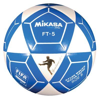 Ballon officiel de footvolley, #5, blanc / bleu