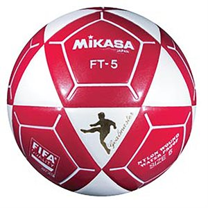 Ballon officiel de footvolley, #5, blanc / rouge