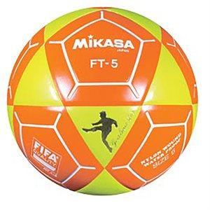 Ballon officiel de footvolley, #5, jaune / orange