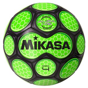 Neon honeycomb soccer ball, green & black