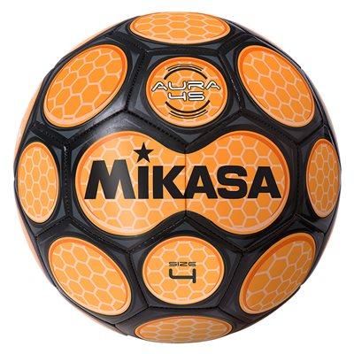 Ballon soccer style néon alvéolé orange & noir
