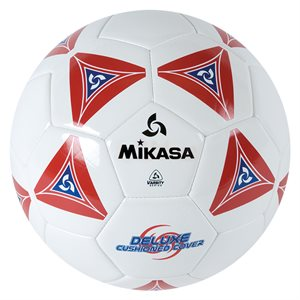 Cushioned cover soccer ball, red