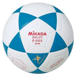 Ballon de soccer rev. MikasaHyde, #2, bleu / blanc