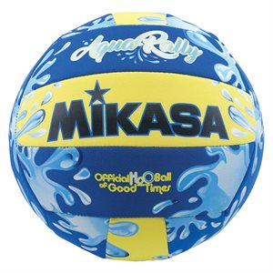 Water resistant AquaRally Volleyball, blue / yellow