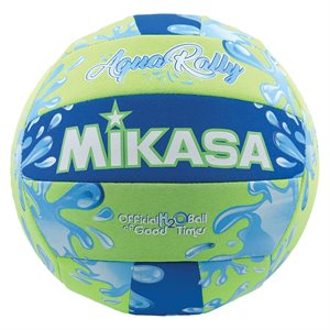 Water resistant AquaRally Volleyball, green / blue
