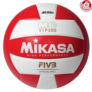 Ballon de volleyball int. en composite, rouge