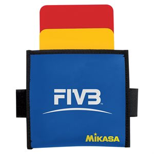 Volleyball referee cards w / leather case holder