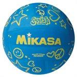 Ballon de volleyball de plage Squish®, bleu / jaune
