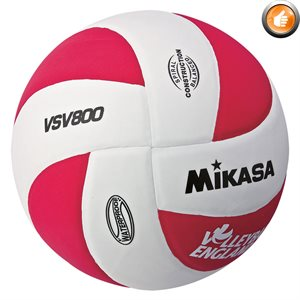 Squish® beach volleyball, white / red